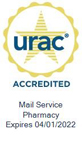 URAC Seal: URAC Accredited Mail Service Pharmacy - Expires 4/1/2022