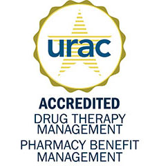 URAC Seal: URAC Accredited Pharmacy Benefit & Drug Therapy Management