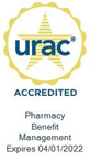 URAC Seal: URAC Accredited Pharmacy Benefit Management - Expires 4/1/2022