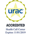URAC Seal: URAC Accredited Health Call Center